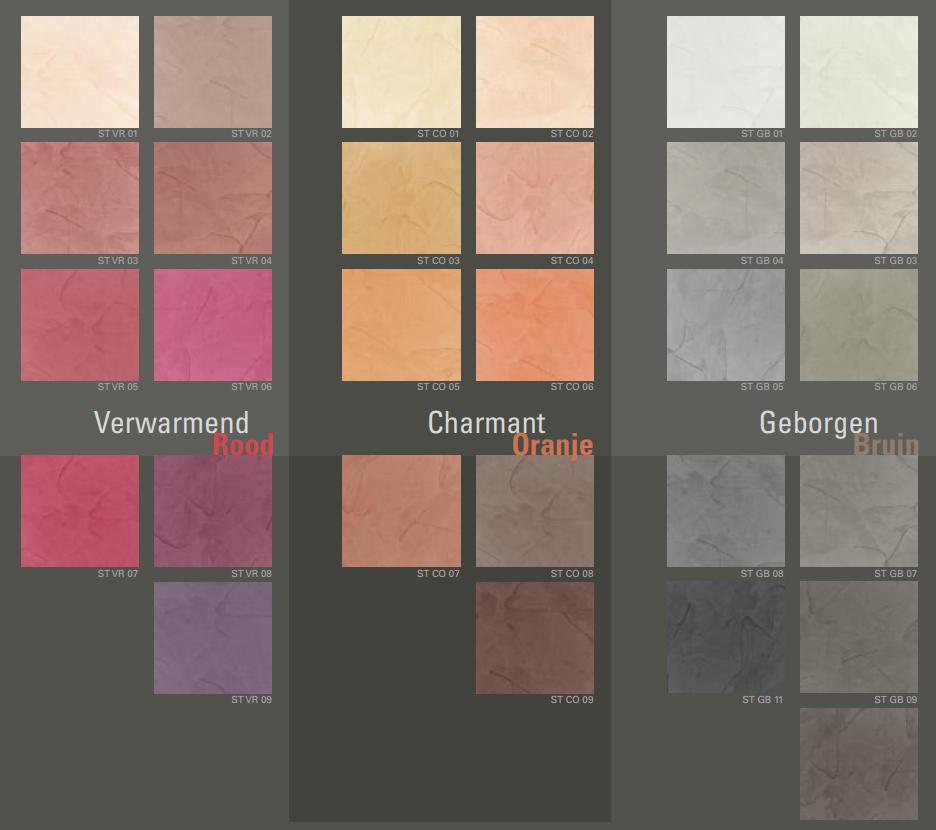 GS Afbouw stucco kleuren